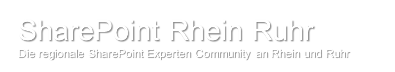 The regional SharePoint expert community in the Rhine and Ruhr